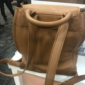 Tory Burch Britten Pebbled Leather Backpack Bag